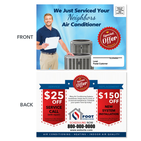 maintenance eddm postcard for hvac company