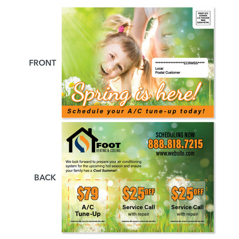 spring eddm postcard for hvac company