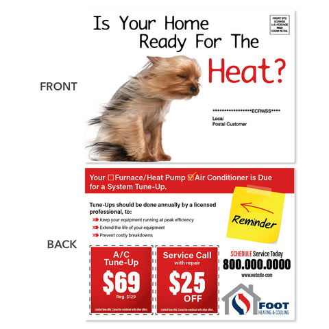 air conditioning eddm postcard for hvac company