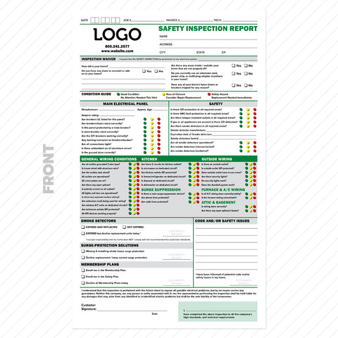 electrical safety inspection invoice