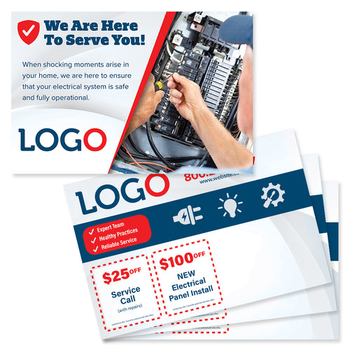electrical repair postcard mailer