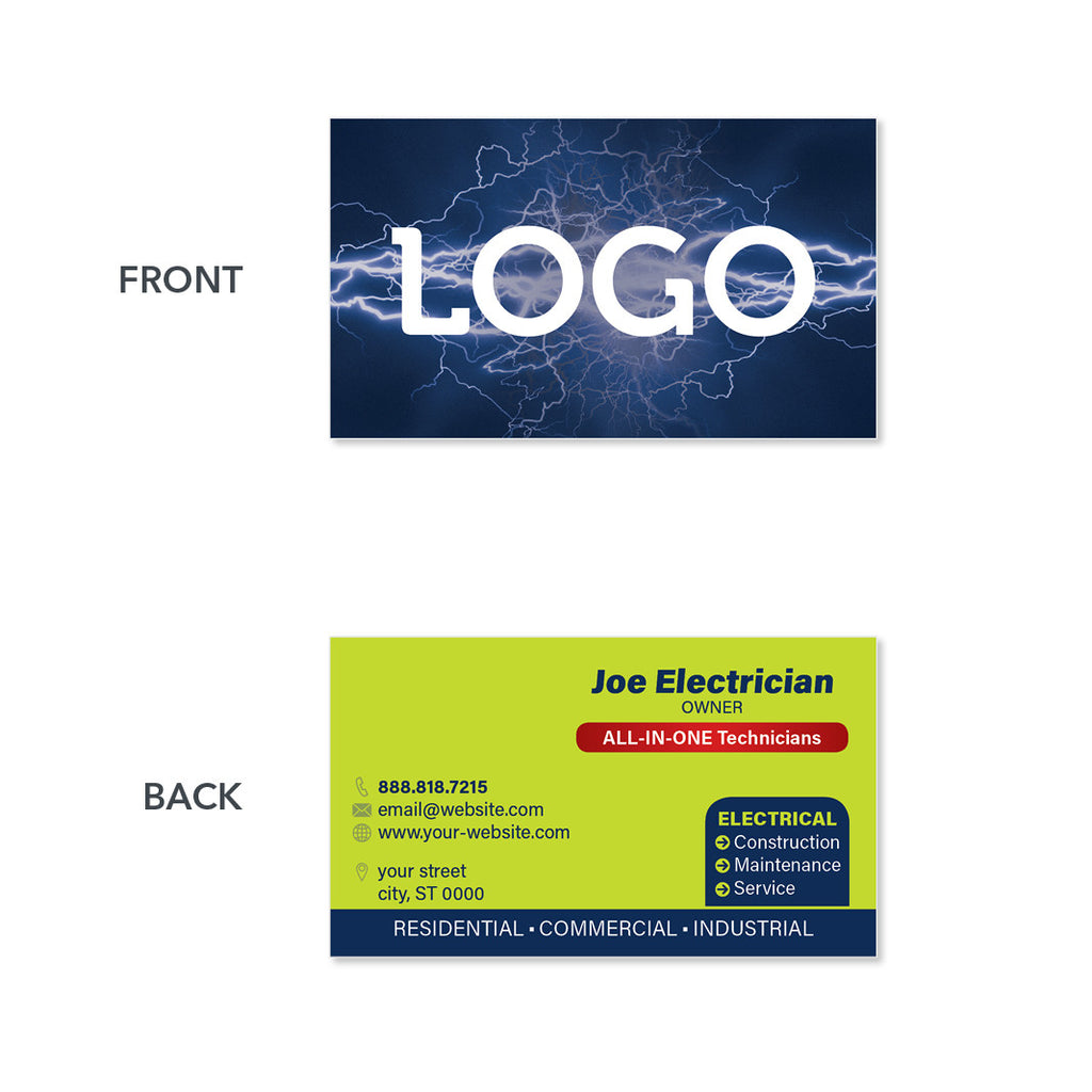 Card Design Electrical Contractor Visiting Card Design