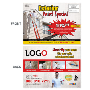 exterior painting contractor eddm postcard