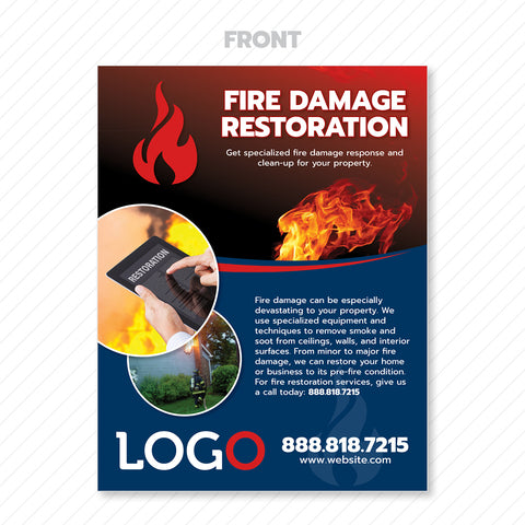 fire damage restoration print design