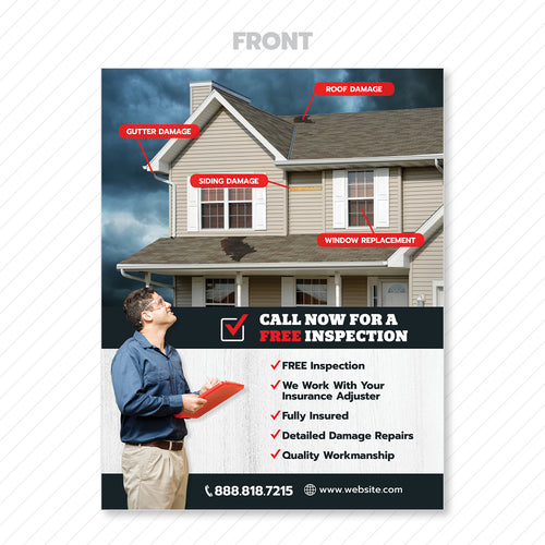 exterior home restoration flyer
