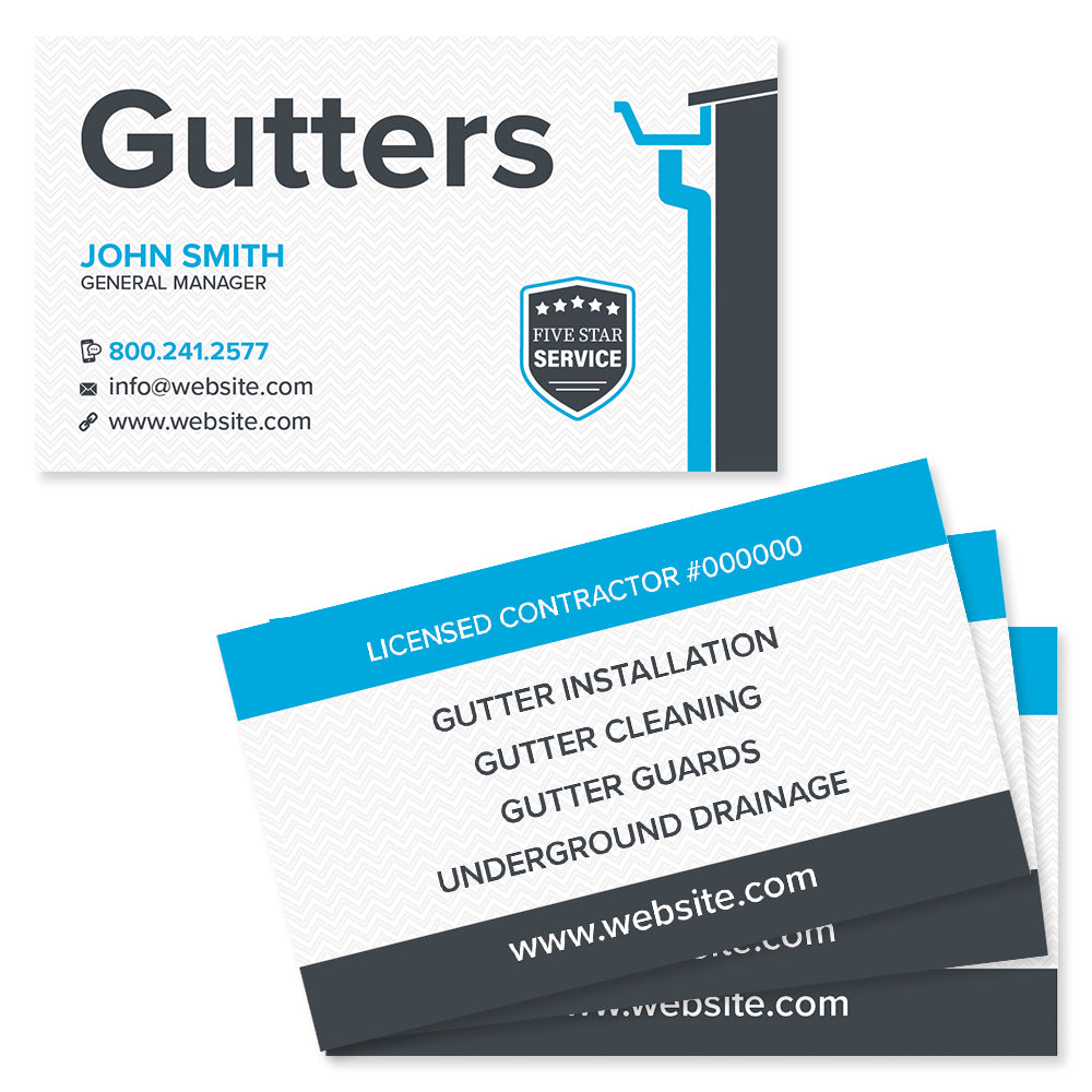 Gutter business card design