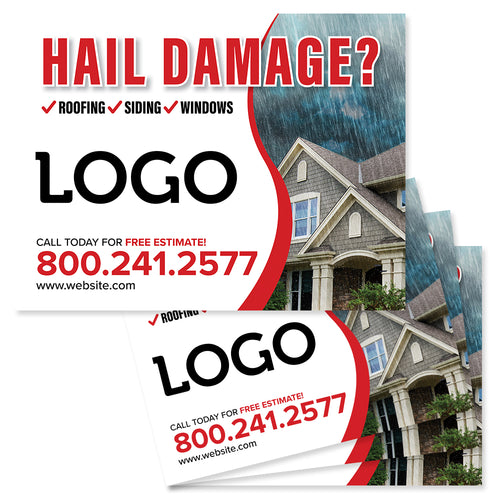hail damage yard sign