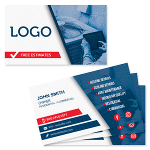 heating and air business card design