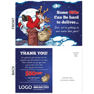 holiday contractor postcard christmas