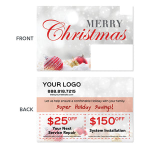 hvac christmas holiday postcard
