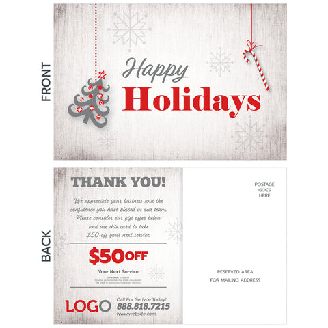 holiday postcard for hvac contractor