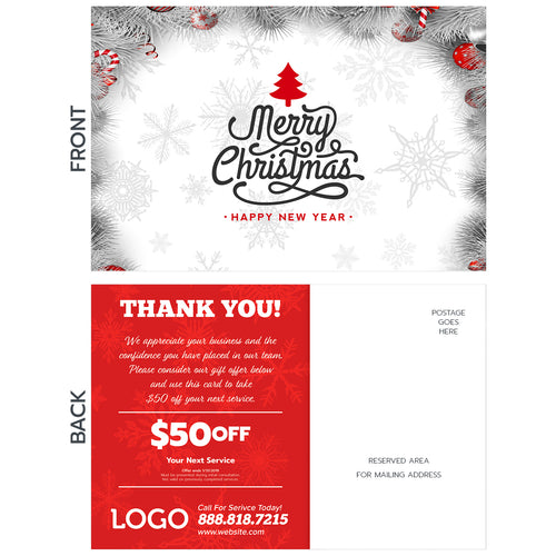 holiday hvac postcard design