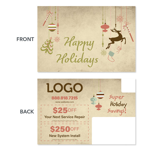 holiday hvac postcard for contractors