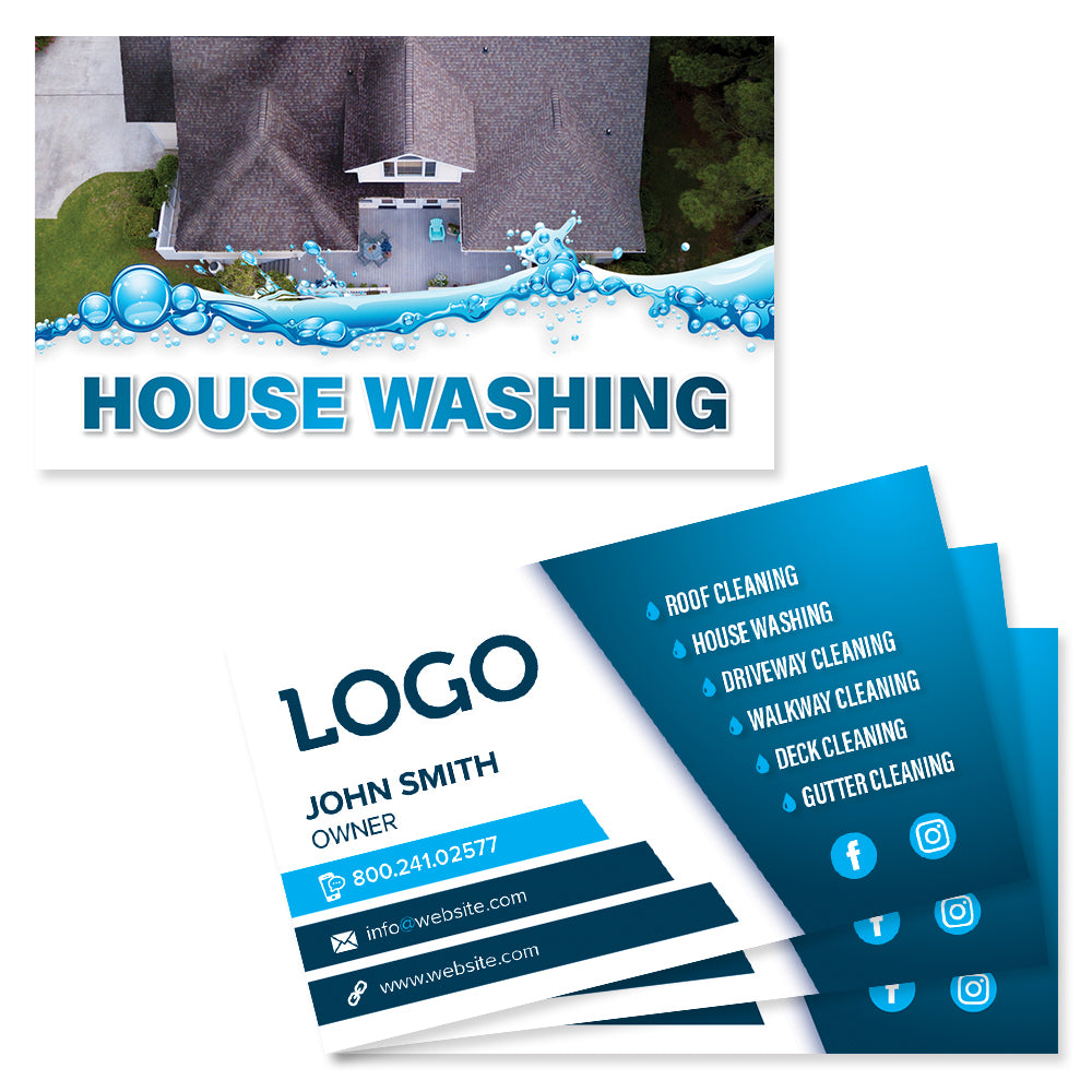 house washing business cards