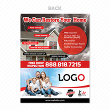 Load image into Gallery viewer, hurricane damage flyer for roofers