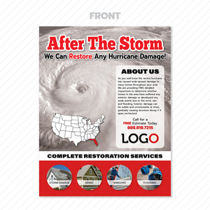 hurricane damage flyer for roofers