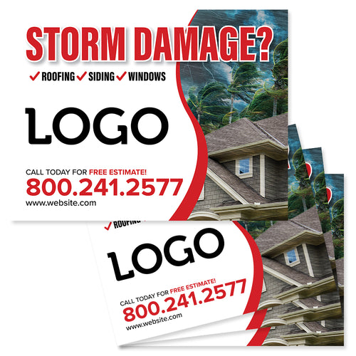 hurricane yard signs for roofers