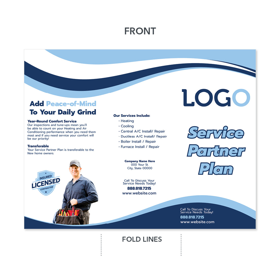 hvac service plan brochure