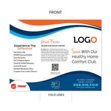 Load image into Gallery viewer, hvac trifold brochure maintenance
