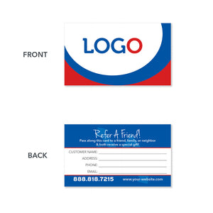 referral hvac business card