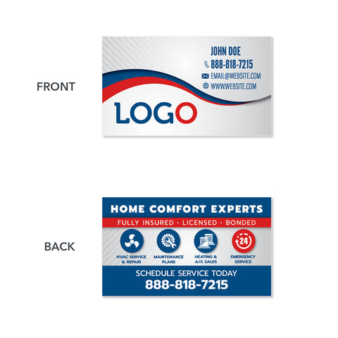 hvac business card design