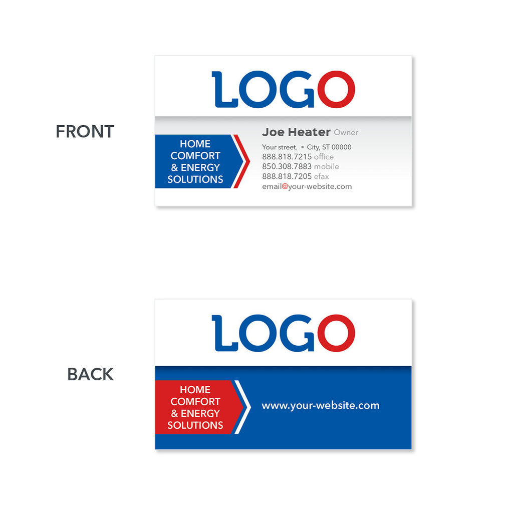 Business cards for hvac contractor design print service heating and air business card colourmoves