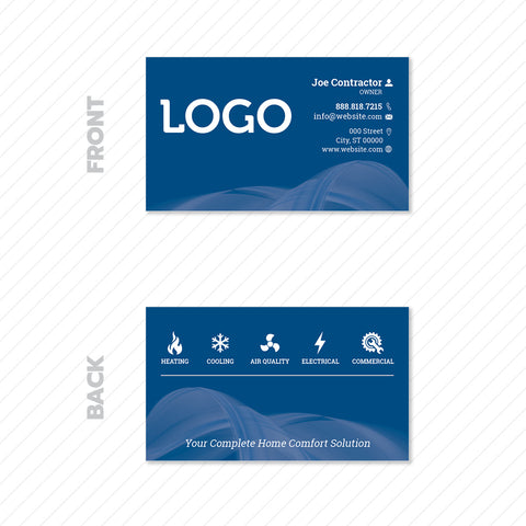 hvac business card print design
