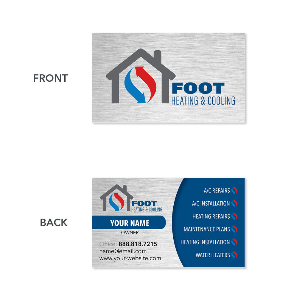 Business cards for hvac contractor design print service hvac business card reheart