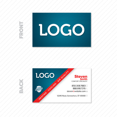 hvac business card design print