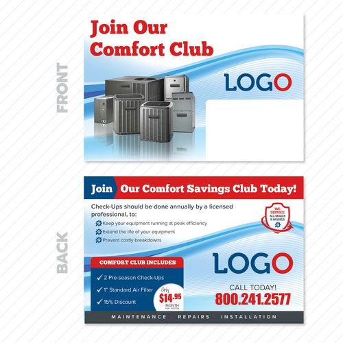 HVAC Maintenance Club Postcard