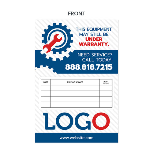 hvac equipment sticker maintenance