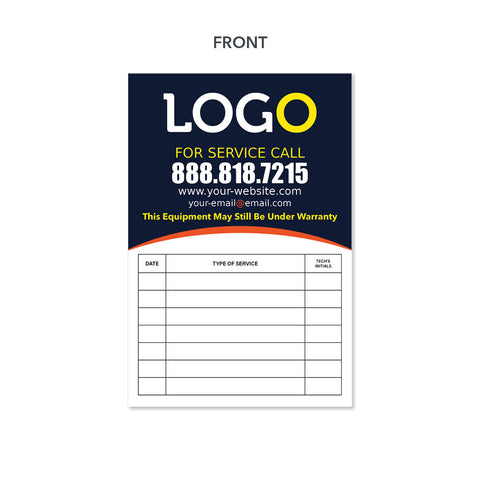 hvac equipment sticker design