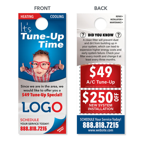custom design print hvac door hanger