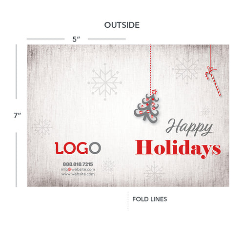 holiday hvac or plumbing thank you card