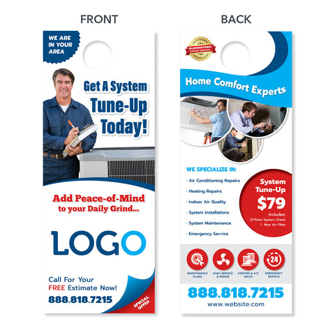 HVAC maintenance door hanger design