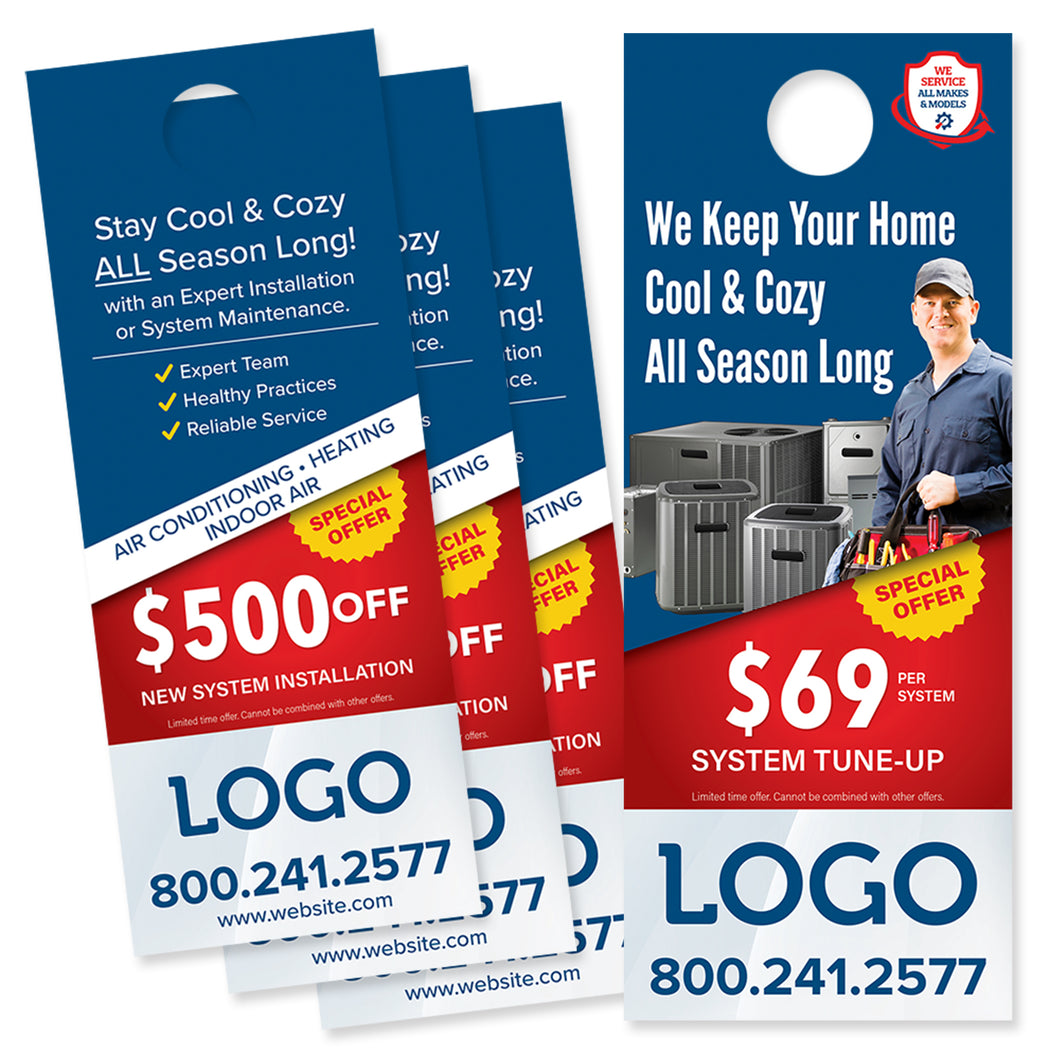 hvac air conditioning door hanger
