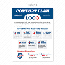 Load image into Gallery viewer, maintenance club plan flyer for hvac