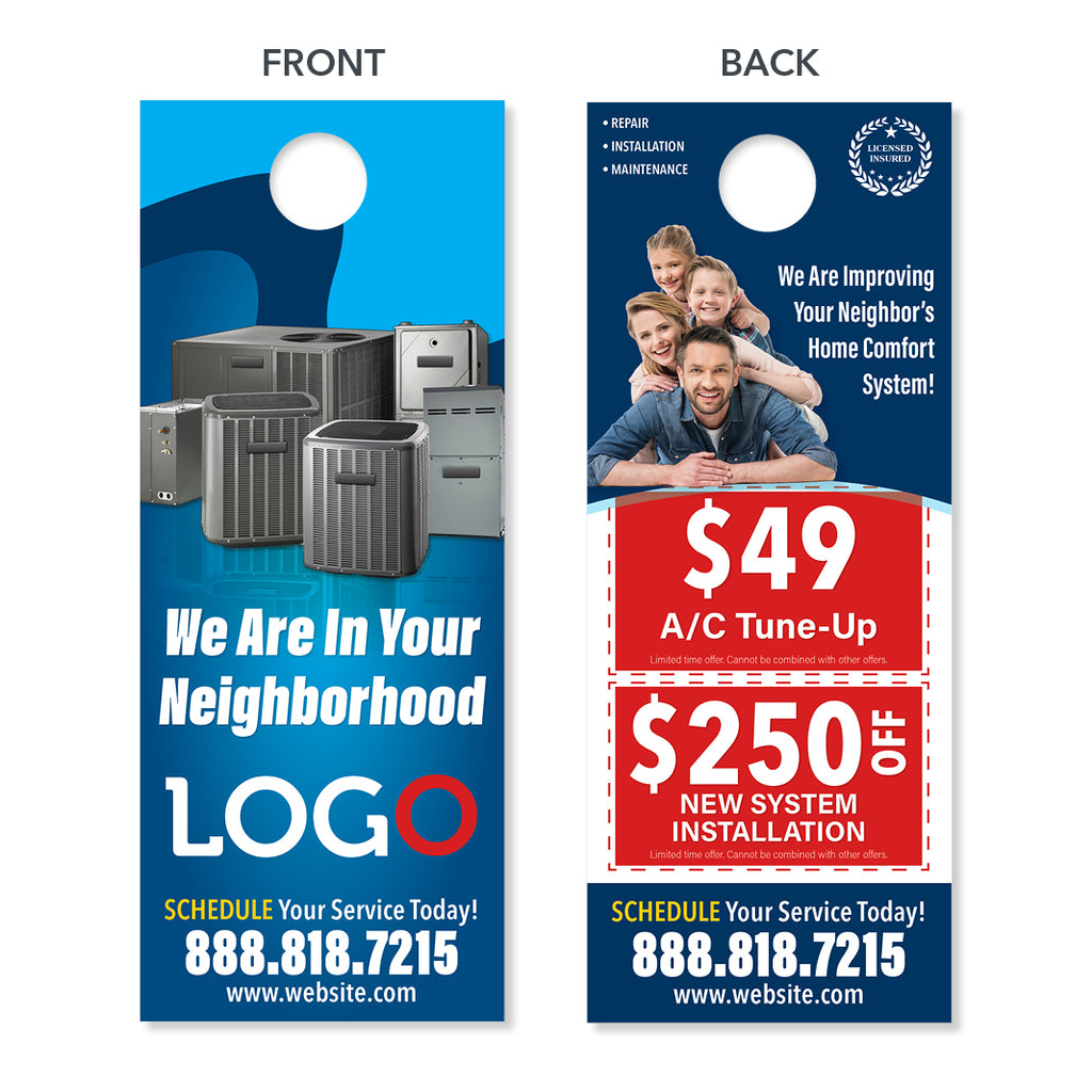 Hvac Neighborhood Door Hanger Designed Amp Printed Free