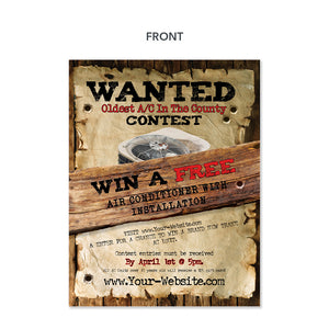 old air conditioner contest flyer