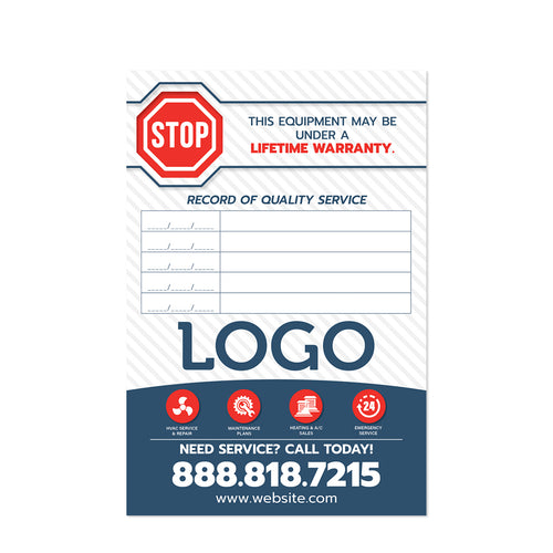 hvac service sticker design