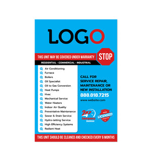 hvac equipment sticker