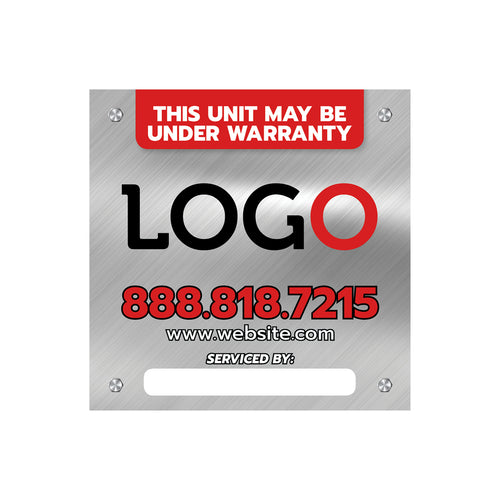 hvac and plumbing equipment sticker