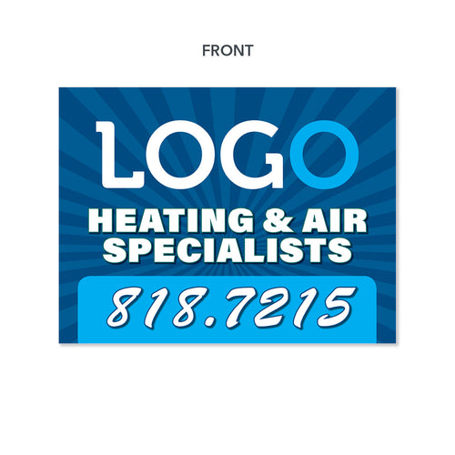 heating and air yard sign for hvac company