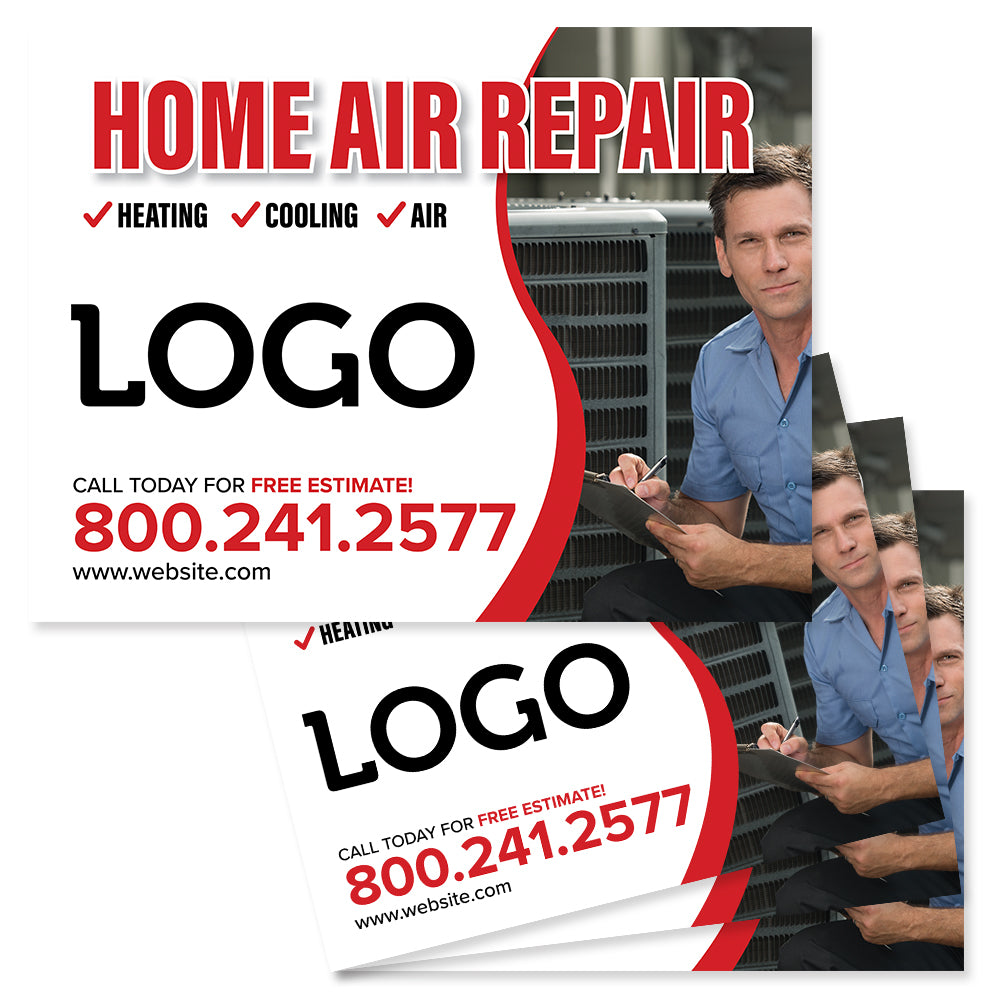hvac yard sign for contractors