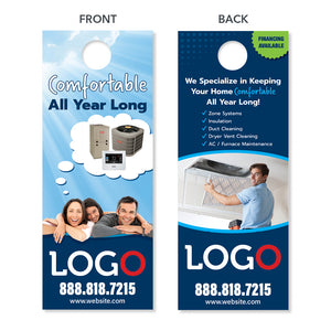 Indoor air quality door hanger for hvac