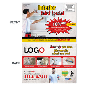 interior painting contractor eddm postcard