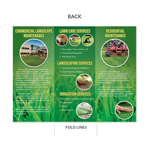 landscape and lawn maintenance brochure