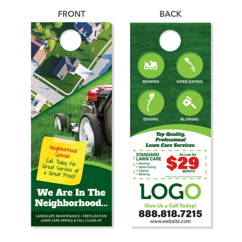 lawn maintenance door hanger design