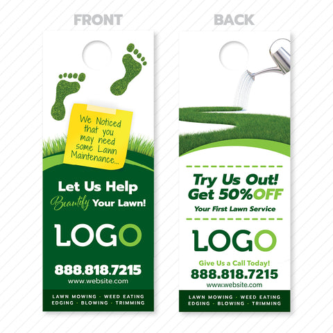 lawn care door hanger design