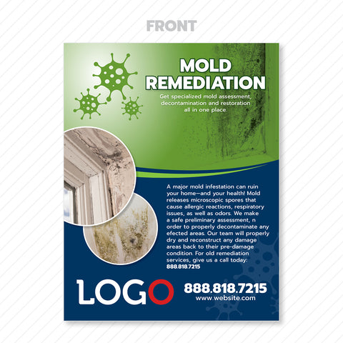mold remediation flyer print design
